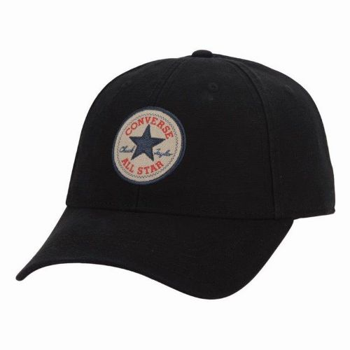 CONVERSE MENS BASEBALL CAP.NEW BLACK ADJUSTABLE SNAPBACK CURVED PEAK HAT CON301